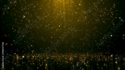 Gold Glittering Bokeh Glamour Abstract Background. Canvas Print