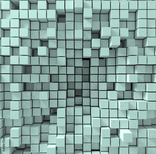 Fototapeta trójwymiarowe kostki