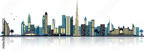 Photo  Dubai Skyline