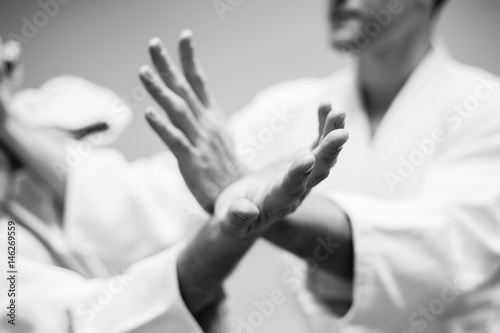Fight between two aikido fighters Wallpaper Mural
