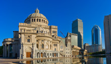 The First Church Of Christ Scientist In Christian Science Plaza In Boston, USA