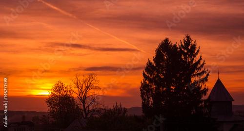Poster Bordeaux sunset