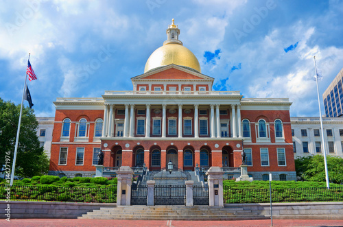 Massachusetts State House in Boston. MA. USA Wallpaper Mural