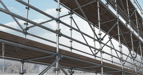 Carta da parati Composite image of scaffolding