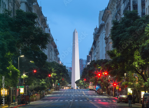 Spoed Foto op Canvas Buenos Aires Night view of the center of Buenos Aires, Argentina