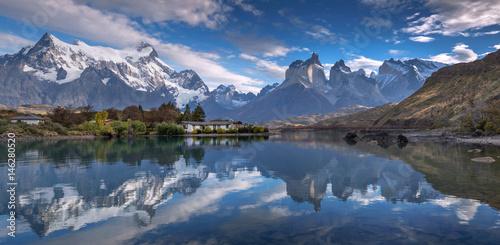 Fotografie, Obraz  Pehoe lake, Torres del Paine National Park, Chile