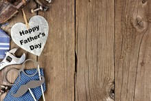 Happy Fathers Day Metallic Hea...