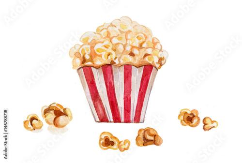 popcorn-akwarela