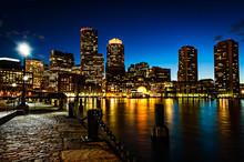 Boston City Skyline From South...