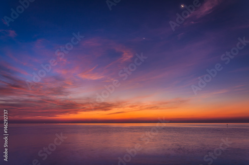 Fotografia Sea and sky in Twilight time