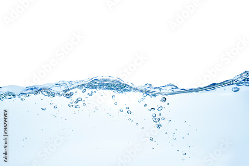 Printed kitchen splashbacks Water Clear water waves. Water wave isolated on white background