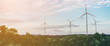 Leinwandbild Motiv Wind Turbine Farm, Wind Energy Concept.