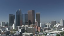 Views Of Downtown Los Angeles City, Cityscape And Traffic, California - 1