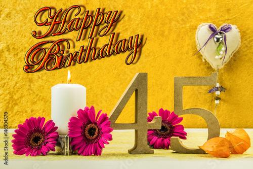 Photo  Happy Birthday 45 Jahre