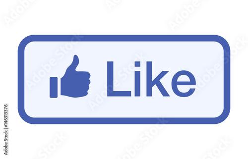 Fotografía  Thumbs up like button vector flat vector icon for social networks / social media
