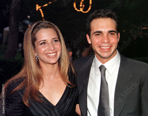 Princess Haya (L) and Prince Ali, the children of the