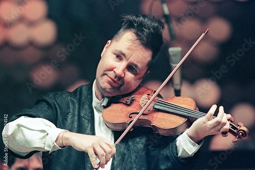 Famous British violinist Nigel Kennedy performs during his