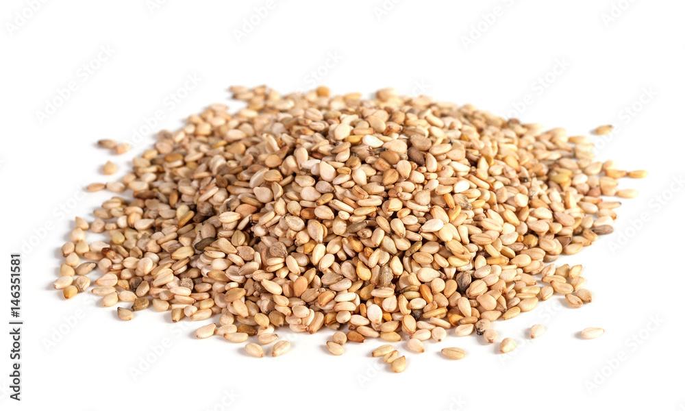 Fototapety, obrazy: sesame seeds isolated on white background