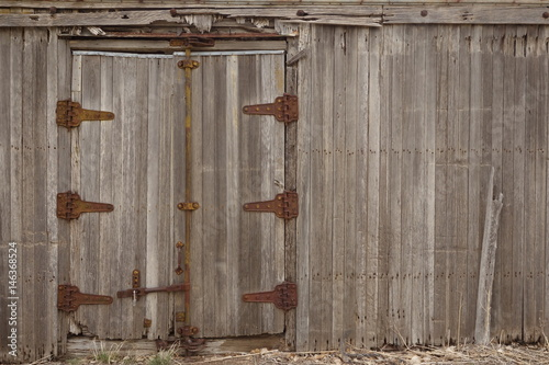 Fotografie, Obraz  Side Door of Antique Wooden Boxcar