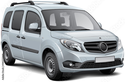 Fotografie, Obraz  White multi-purpose vehicle