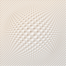 Square Grid Spherical Distortion In Ivory Shades