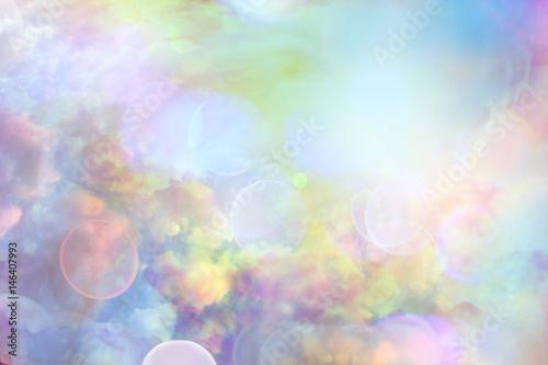 Fotobehang Lichtblauw Clouds sky background watercolor colors blur