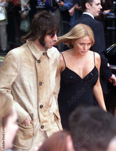 Liam Gallagher L Of The Rock Group Oasis And His Pregnant Wife Patsy Kensit