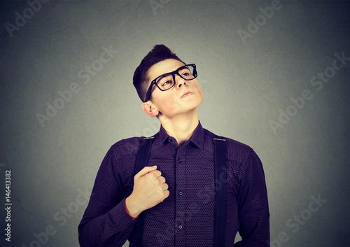 Fotografie, Obraz  Self confident egocentric young man