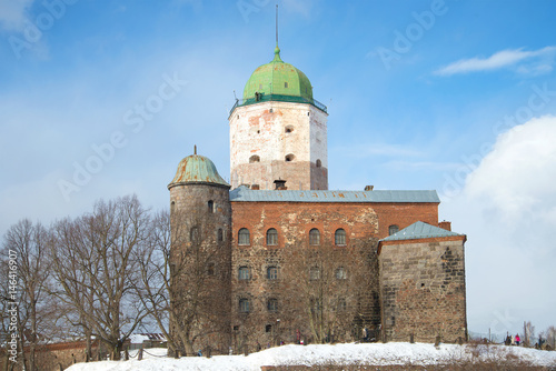 Vyborg Castle close-up on a sunny February day. Russia Poster