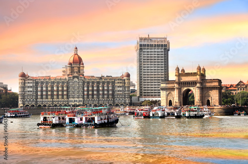 Mumbai, INDIA - December 6 : Gateway of India was built by British raj in 1924,T Canvas Print