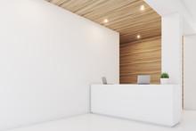 Light Wooden Reception, Armchair, Side