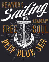 Anchor Sailing Academy T Shirt...