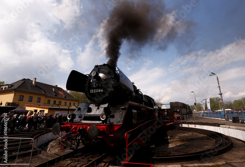 German steam engine is pictured before the 24th Steam Engine