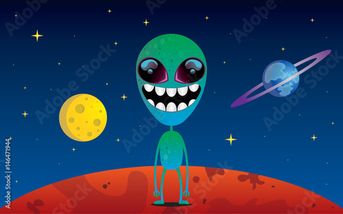Fotomural alien vector illustration