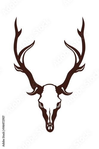 Keuken foto achterwand Waterverf Illustraties Skull of a deer. Object isolated on white background. Vector illustration.