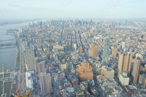 View at New York Midtown from One World Trade Center Poster