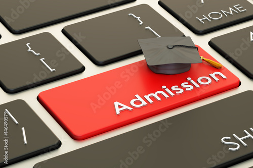 Cuadros en Lienzo  Admission concept on keyboard button, 3D rendering
