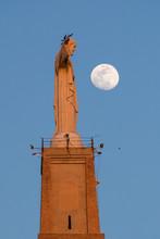 Jesus Schaut Auf Mond