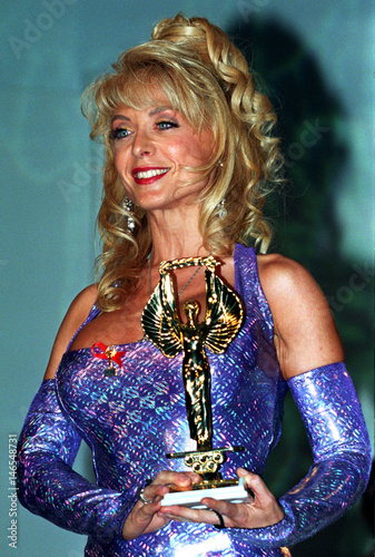 Nina Hartley American Pornographic Star Holds Her Hot Dor Of Honor During