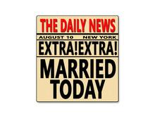 Newspaper Journal Wedding