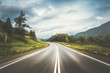 canvas print picture - country highway