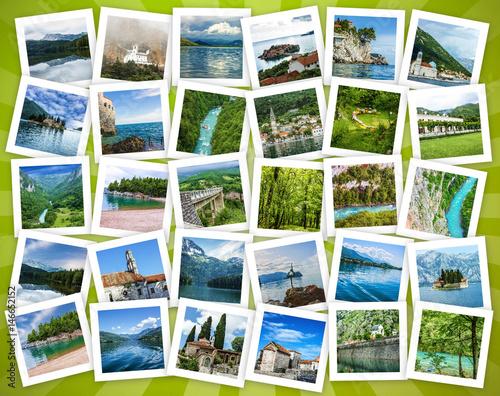 Foto op Plexiglas Caraïben Montenegro travel collage - landscapes and architectural landmarks