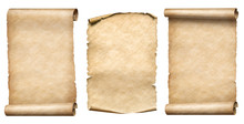 Old Paper Scrolls Or Parchment...