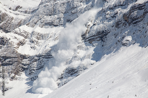 Winter in alps Wallpaper Mural