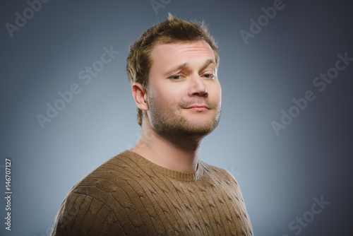 Fotografie, Obraz  Arrogant bold self important stuck up man with napoleon complex