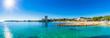 canvas print picture - Spanien Mittelmeer Küste Mallorca Strand Platja des Carregador Palmanova