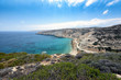 Aerial view on mountain coastline of Crete island, Greece