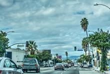Traffic In Beverly Boulevard