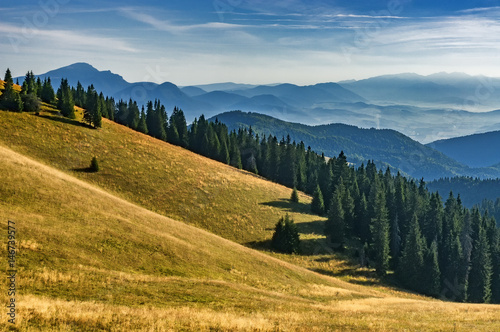 Deurstickers Heuvel Slovak mountainous landscape