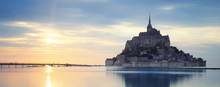 Mont-Saint-Michel At Sunset